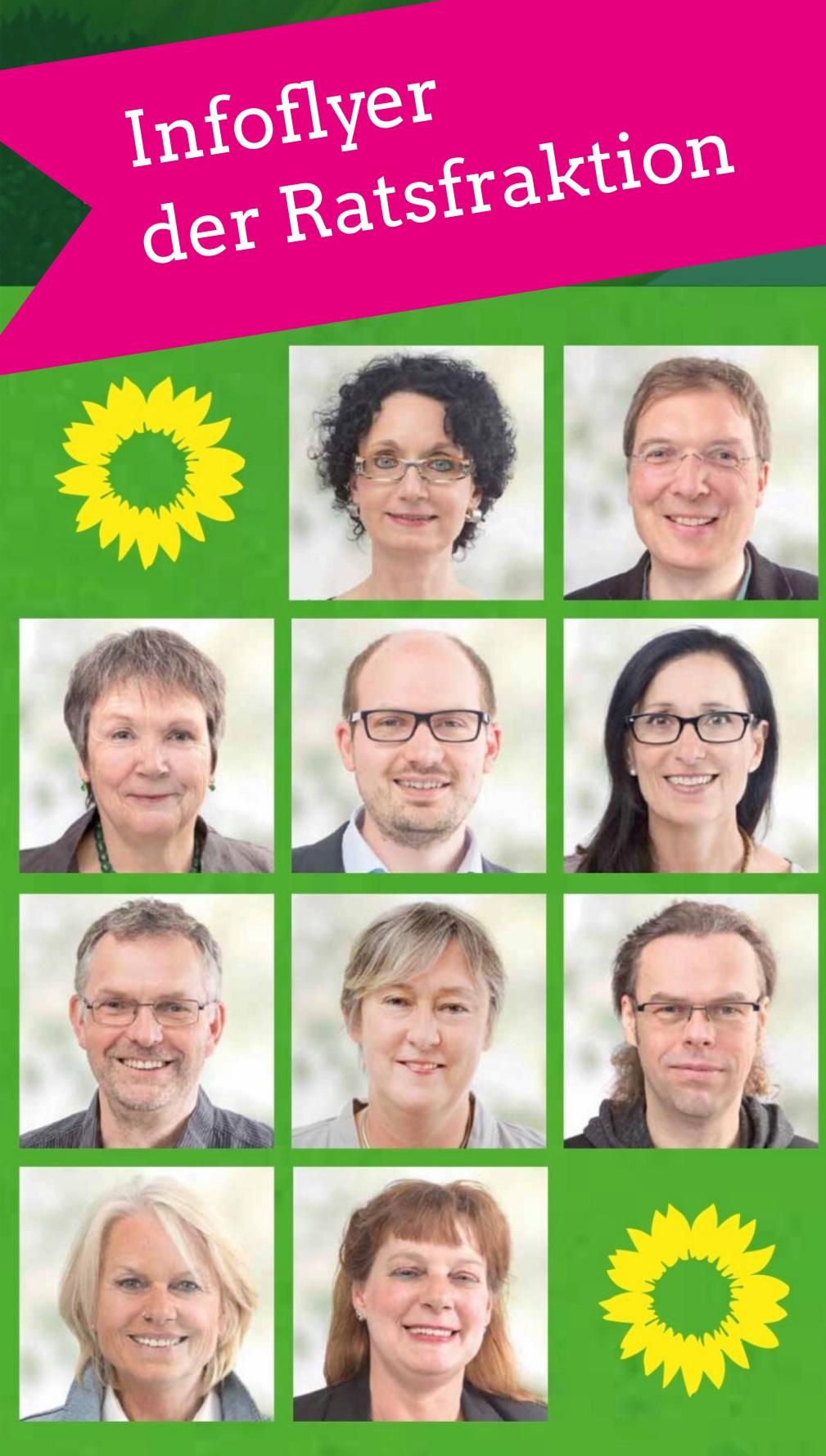 Flyer Infos Grüne Ratsfraktion